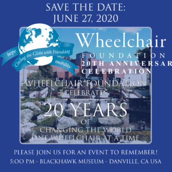 Wheelchair 20 Year Anniversary Celebration