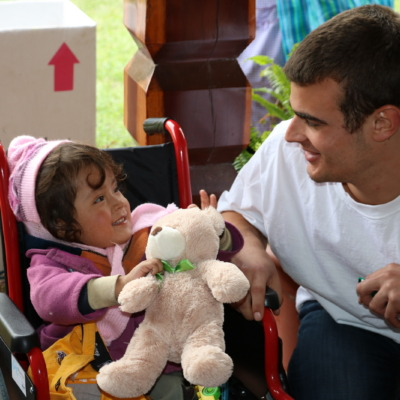 """Matt Medeiros, a wonderful young man who accompanied students, teachers, and parents on """"From the Heart"""" wheelchair distribution trips to Bolivia, Mexico, Argentina, and Peru."""