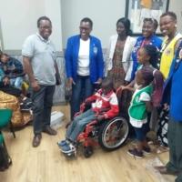 Wheelchair recipients in Africa